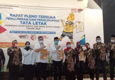 KPU Kabupaten Kediri Tetapkan Tata Letak Posisi Pasangan Calon Bupati dan Wakil Bupati.
