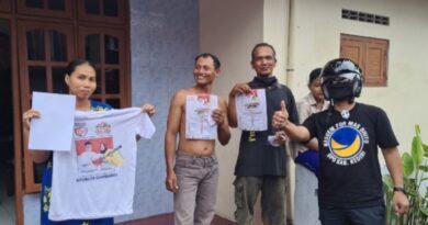 Kampanye Simpatik Partai Nasdem Turunkan APK, Bagikan Masker dan Hansanitizer.
